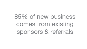 85 percent of new business comes from existing customers