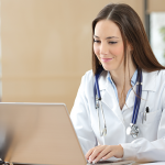 Site coordinator using clinical trial travel portal