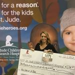 Courtney runs for St. Jude's Hospital