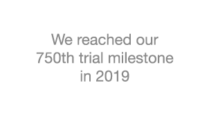 750th trial milestone